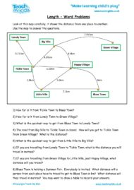 Worksheets for kids - length-word-problems