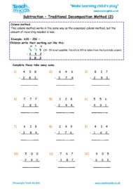 Worksheets for kids - subtraction-column-decompostion-tu-2