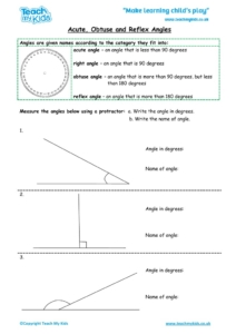 Worksheets for kids - acute-obtuse-and-reflex-angles