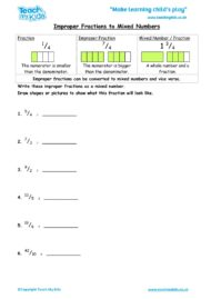 Worksheets for kids - improper-fractions-and-mixed-numbers