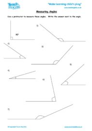 Worksheets for kids - measuring-angles
