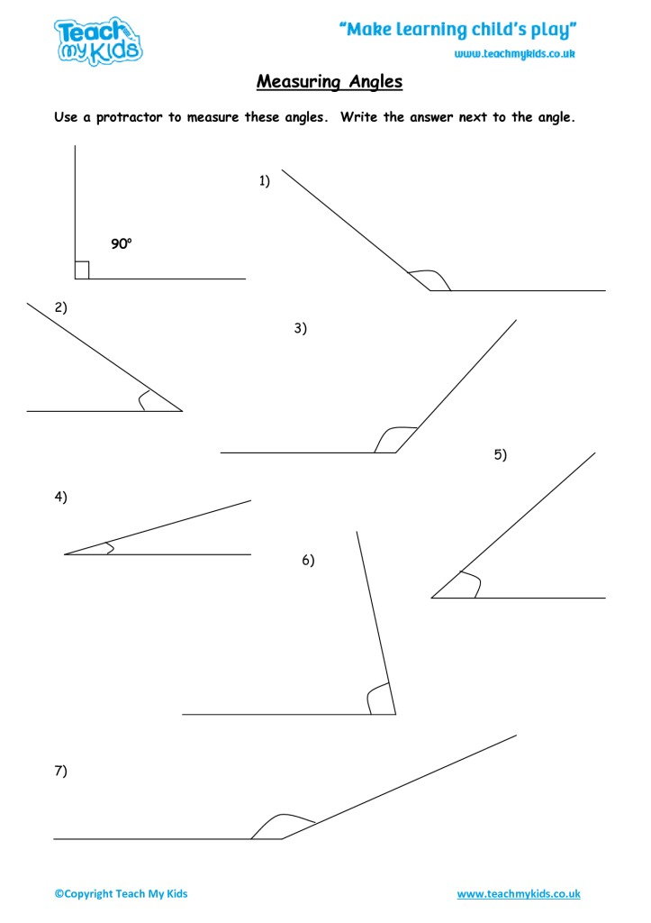 Measuring Angles Tmk Education. Measuring Angles. Worksheet. Measuring Angles Worksheet At Mspartners.co