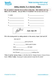 Worksheets for kids - adding-adverbs-to-a-nursery-rhyme