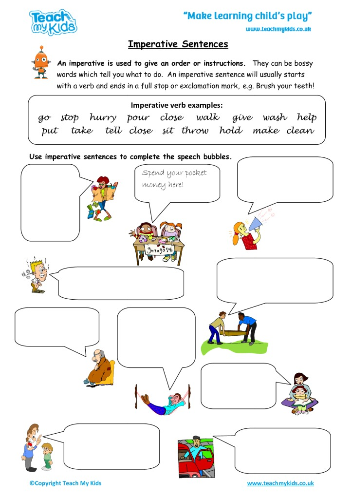 Imperative Sentences Tmk Education
