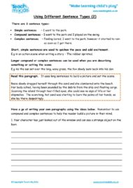 Worksheets for kids - using-different-sentence-types-2