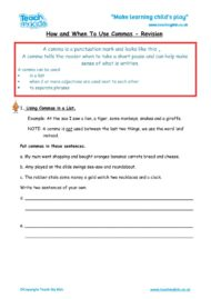 Worksheets for kids - how-when-to-use-commas