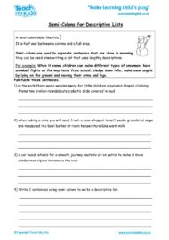 Worksheets for kids - semi-colons_for_descriptive_lists