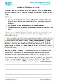 Worksheets for kids - adding-a-flashback-to-a-story