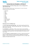 Worksheets for kids - creating-mood-and-atmosphere-in-writing