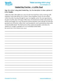 Worksheets for kids - handwriting-practise-a-little-cloudcharacter-description