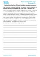 Worksheets for kids - handwriting-practise-pit-pendulum-description-atmosphere