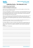 Worksheets for kids - handwriting-practise-the-closing-door-similies