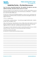 Worksheets for kids - handwriting-practise-the-snowdrop-description