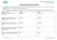 Worksheets for kids - planning-and-comparing-story-genres