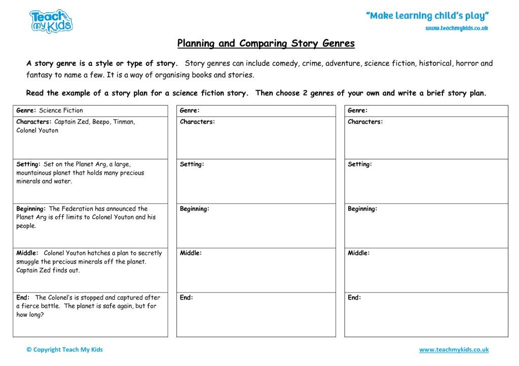 Planning And Paring Story Genres Tmk Education. Worksheets For Kids Planningandparingstorygenres. Worksheet. Minerals Worksheet Pdf At Mspartners.co