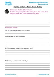 Worksheets for kids - starting-a-story-writing-the-beginning-of-a-story