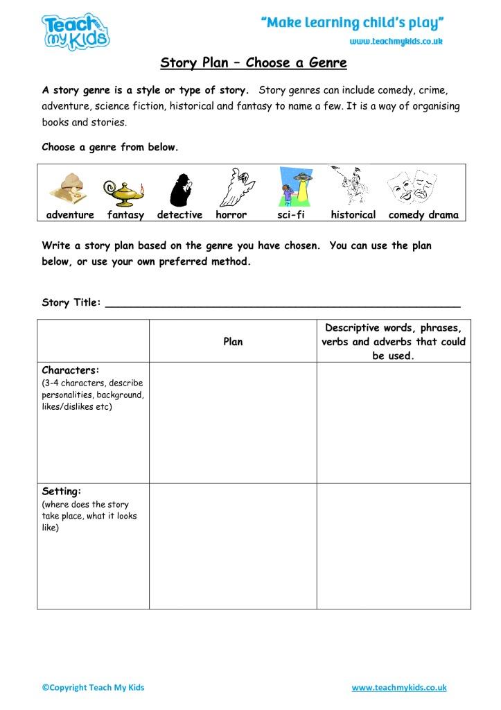 Printable Worksheets fiction writing worksheets : Developing Story Writing Skills (9-11 Years) - TMK Education