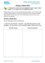 Worksheets for kids - writing-a-fantasy-story