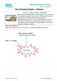 Worksheets for kids - non-chronological-report-volcanoes
