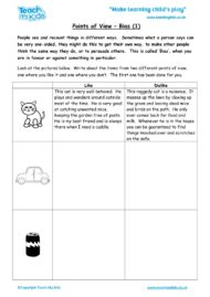 Worksheets for kids - points-of-view-bias-1