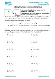 Worksheets for kids - adding-fractions-equivalent-fractions