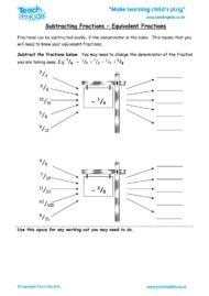 Worksheets for kids - subtracting-fractions-equivalent-fractions