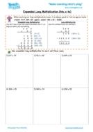 Worksheets for kids - expanded long multiplication – htu x tu