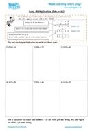 Worksheets for kids - long multiplication – htu x tu