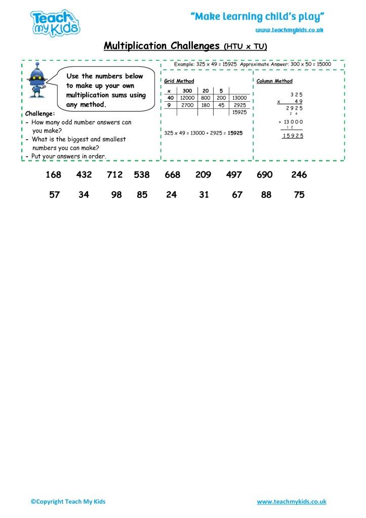 multiplication challenges htu x tu tmk education. Black Bedroom Furniture Sets. Home Design Ideas