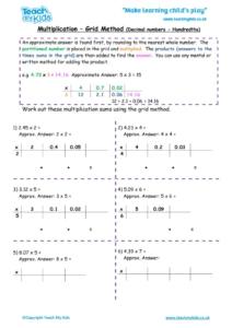 Worksheets for kids - multiplication-grid-method-decimal-nos-hundredths