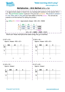 Worksheets for kids - multiplication-grid-method-htu-x-tu
