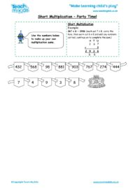 Worksheets for kids - short-multiplication-party-time