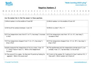 Worksheets for kids - negative-numbers-2