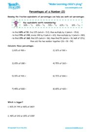 Worksheets for kids - percentages-of-a-number-2
