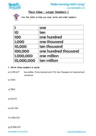 Worksheets for kids - place-value-larger-numbers-1