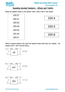 Worksheets for kids - rounding-decimal-numbers-whole-and-tenths