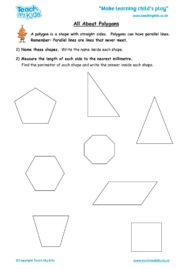 Worksheets for kids - all-about-polygons