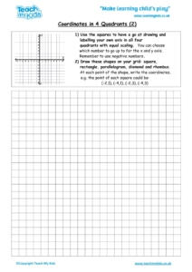 Worksheets for kids - coordinates-in-4-quadrants-2